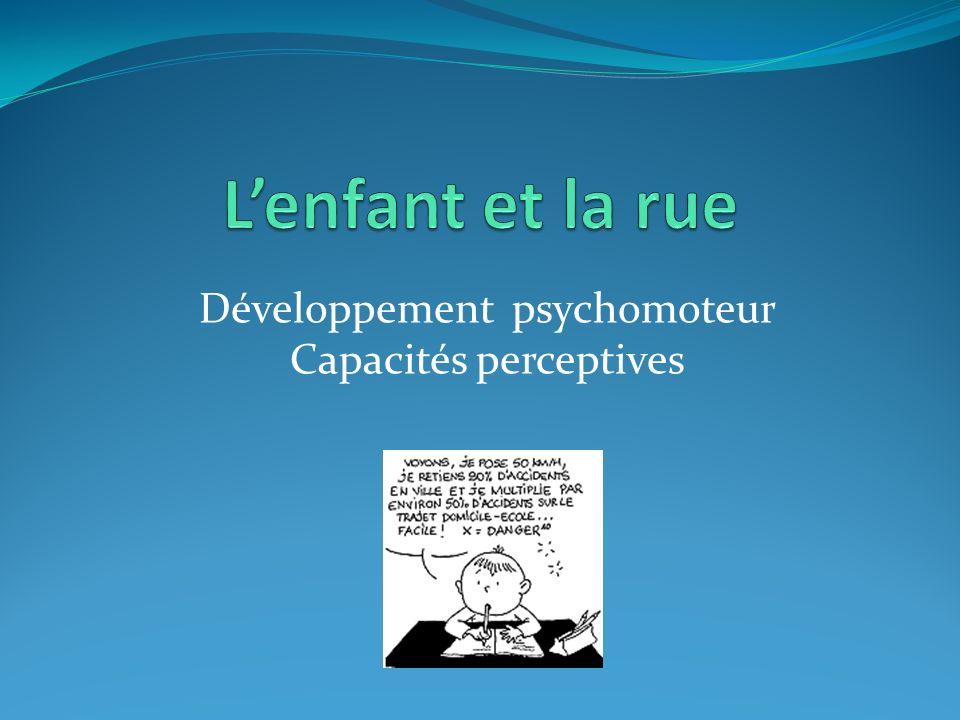 L'enfant et la rue Développement psychomoteur Capacités perceptives