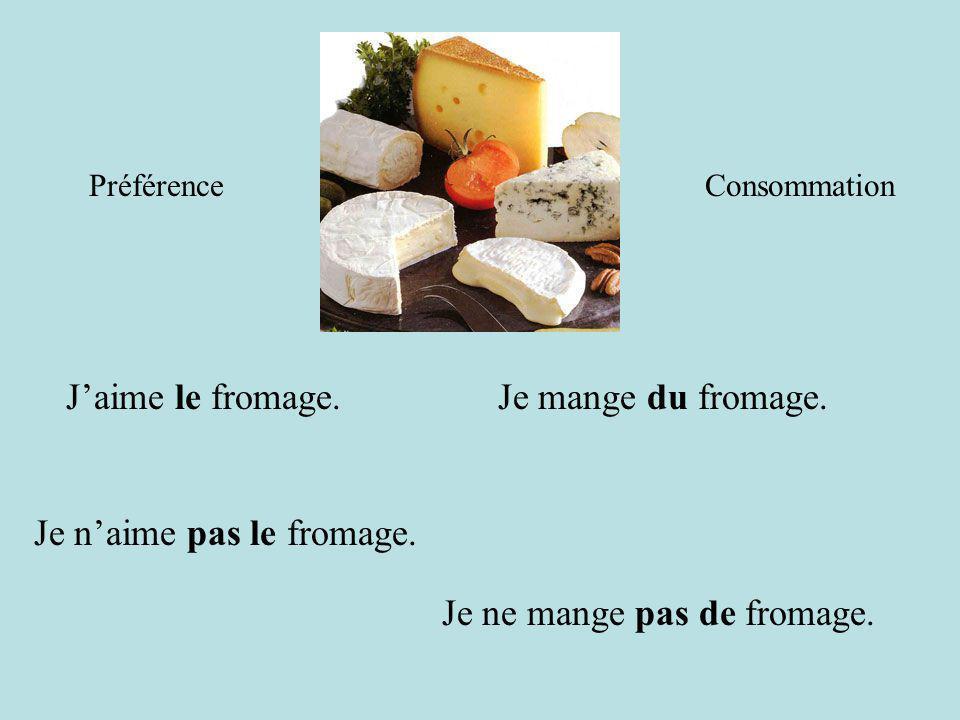 Je n'aime pas le fromage.