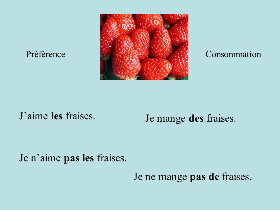 Je n'aime pas les fraises.