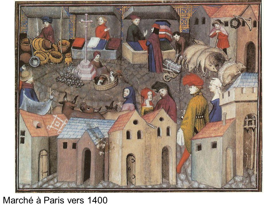 Marché à Paris vers 1400