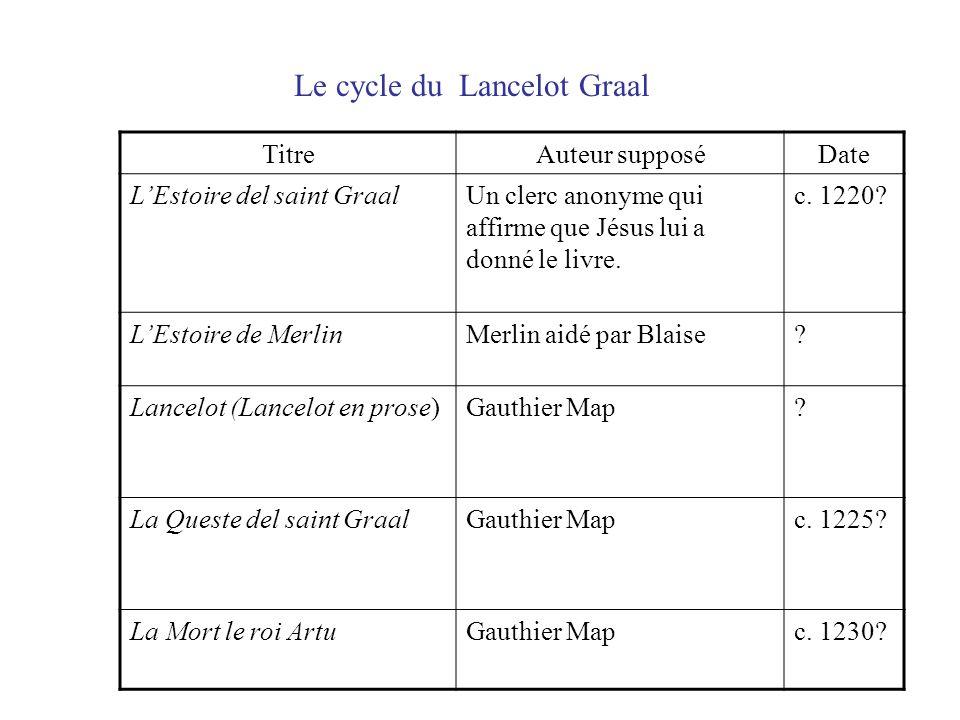 Le cycle du Lancelot Graal