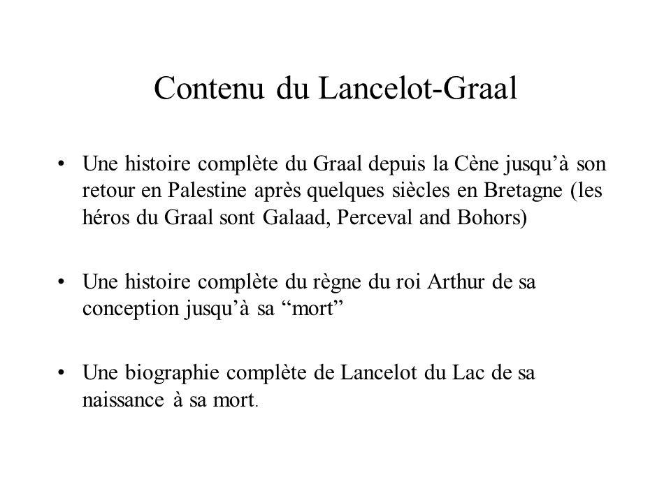 Contenu du Lancelot-Graal