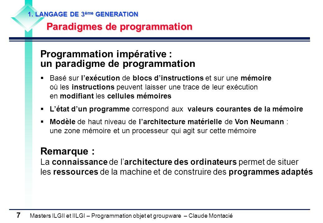 Programmation impérative : un paradigme de programmation