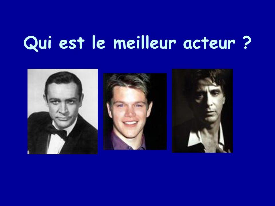 Qui est le meilleur acteur