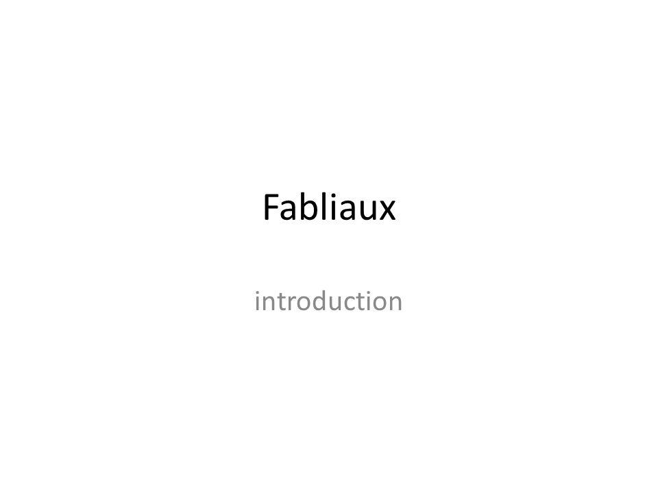 Fabliaux introduction