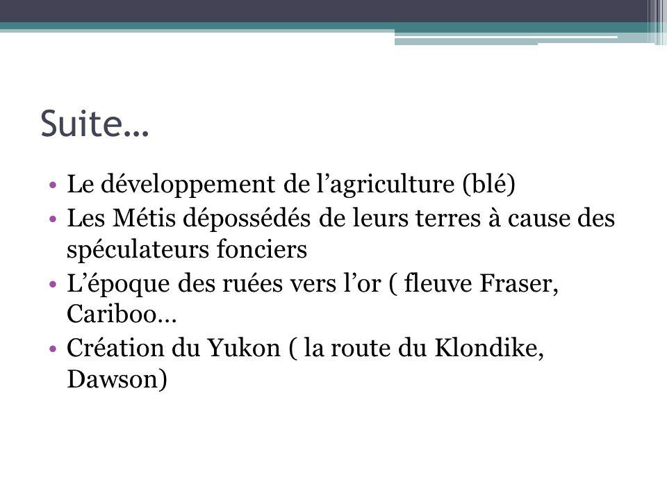 Suite… Le développement de l'agriculture (blé)