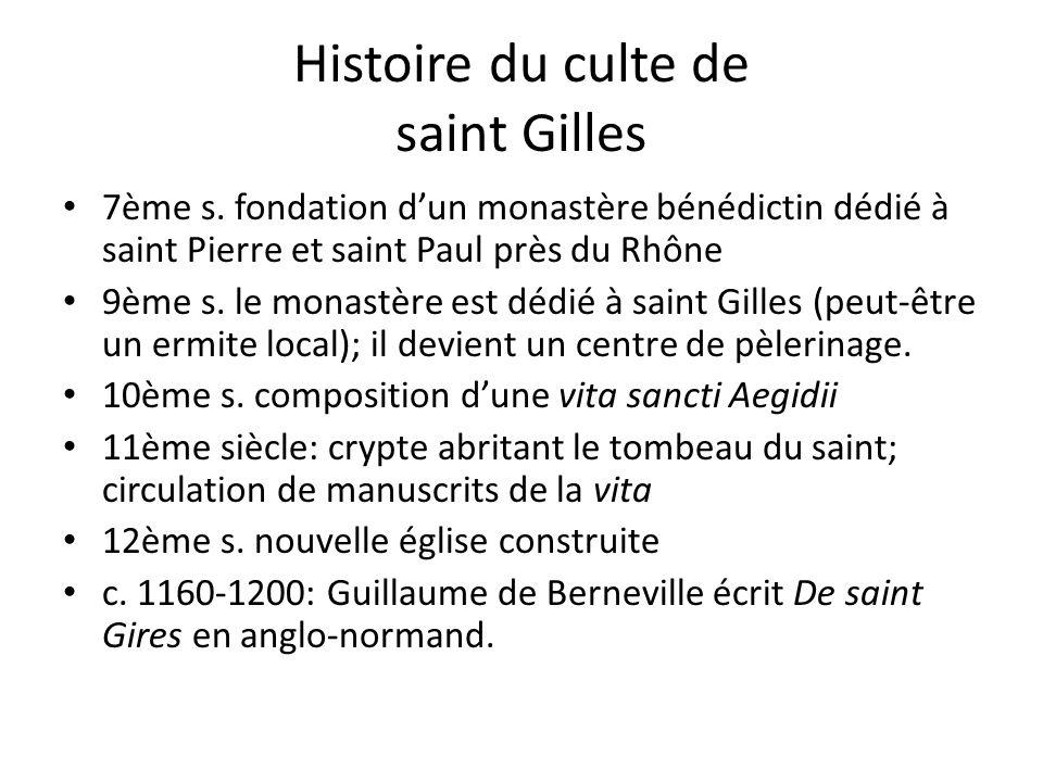 Histoire du culte de saint Gilles