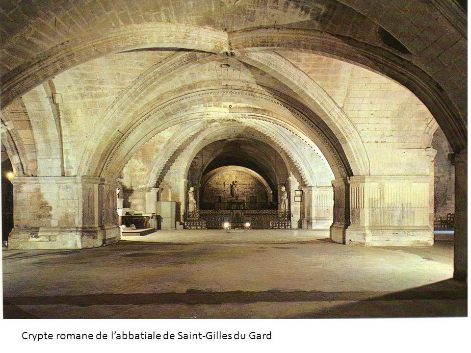 Crypte romane de l'abbatiale de Saint-Gilles du Gard