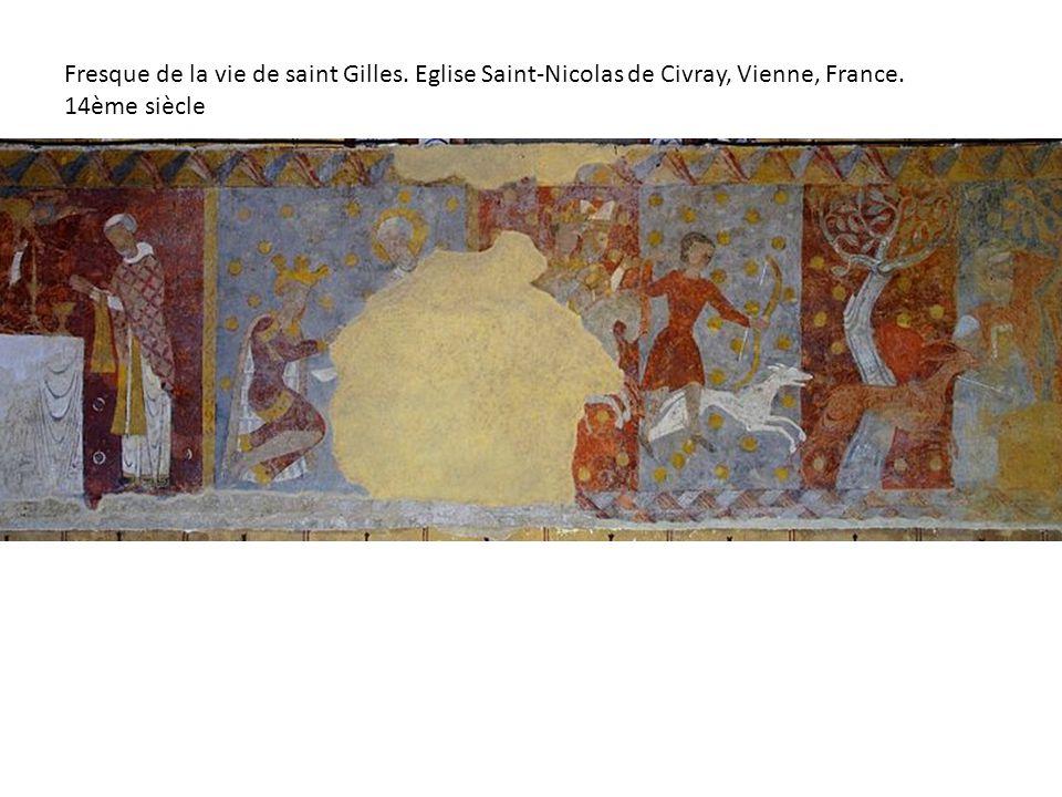 Fresque de la vie de saint Gilles