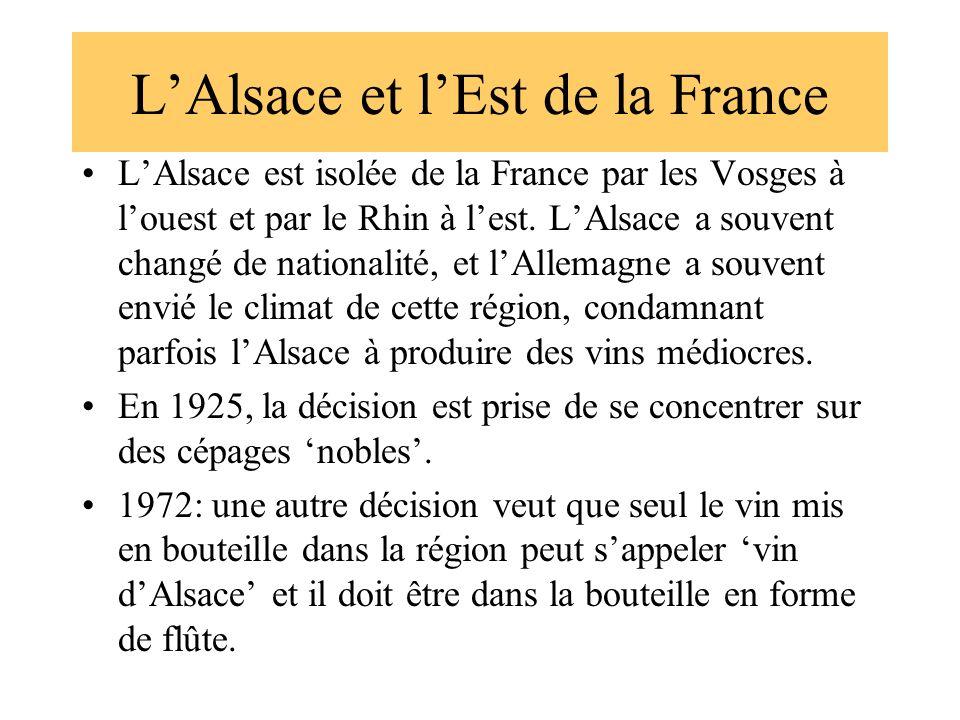 L'Alsace et l'Est de la France