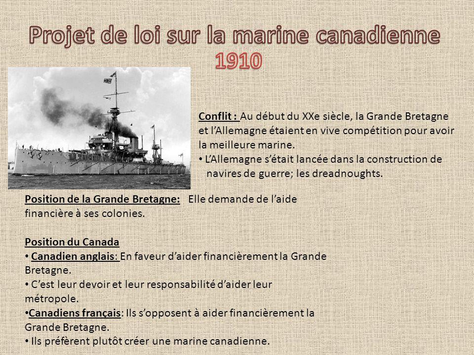Projet de loi sur la marine canadienne