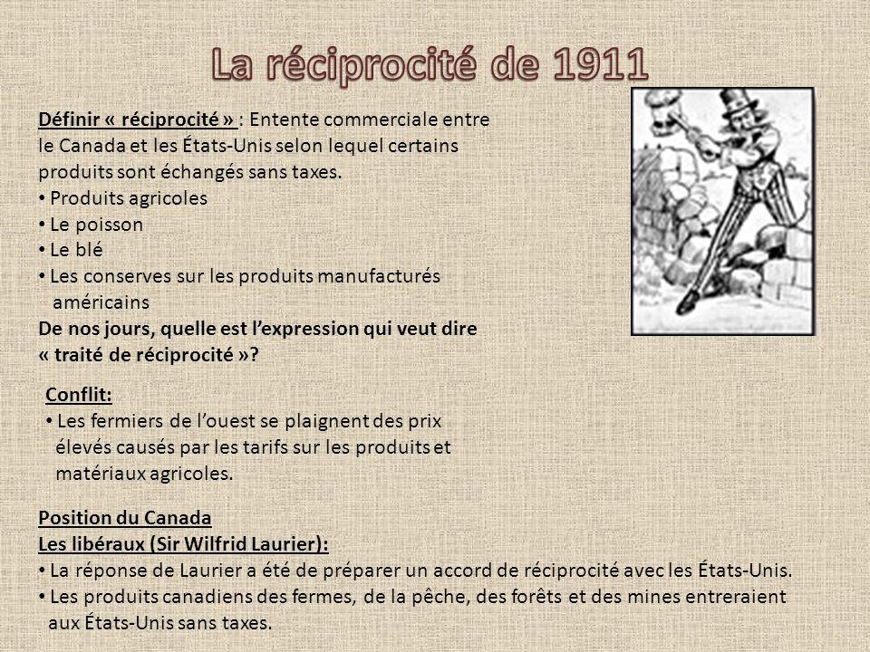 La réciprocité de 1911