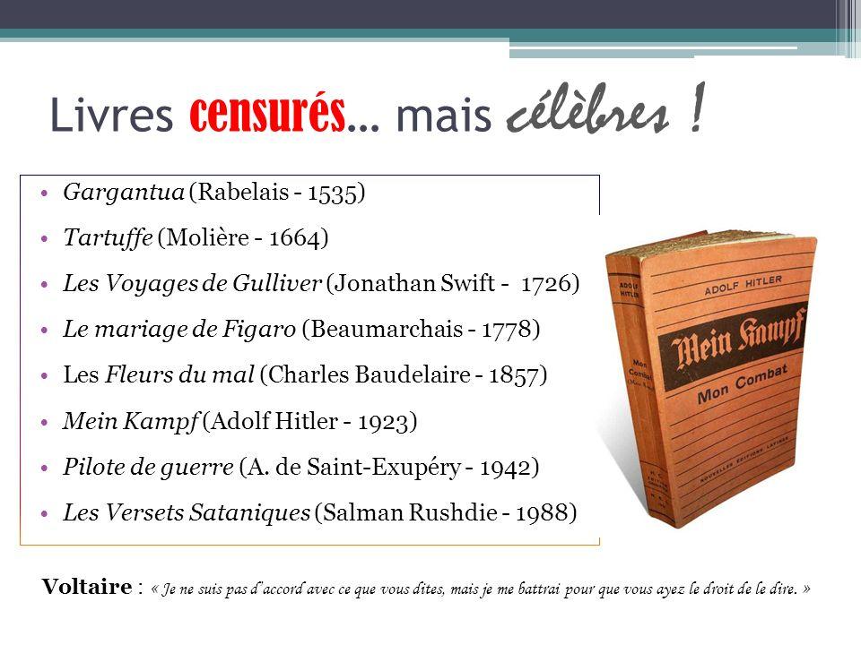 Livres censurés… mais célèbres !