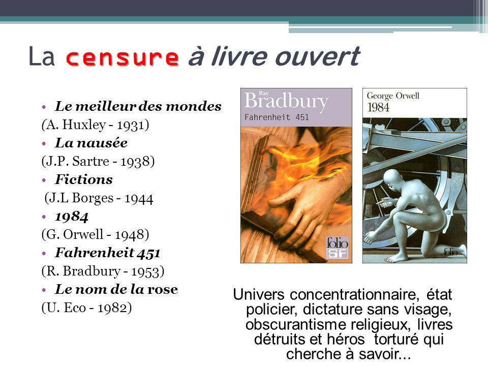 La censure à livre ouvert