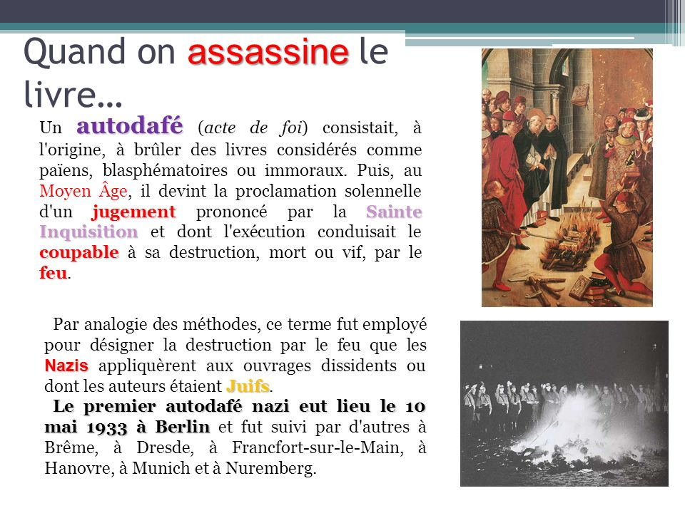 Quand on assassine le livre…