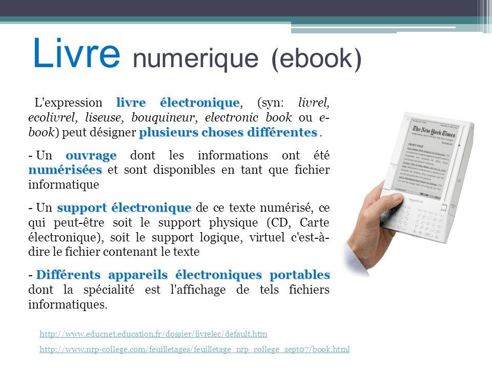 Livre numerique (ebook)