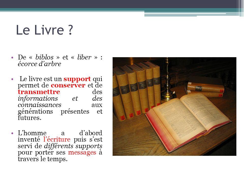 Le Livre De « biblos » et « liber » : écorce d'arbre