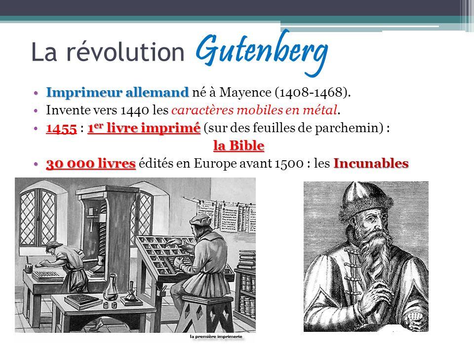 La révolution Gutenberg
