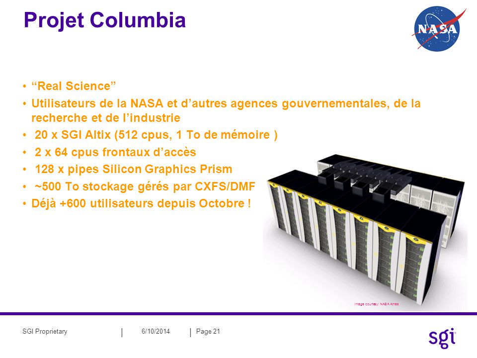 Projet Columbia Real Science