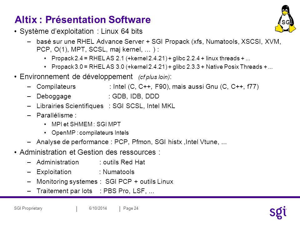 Altix : Présentation Software