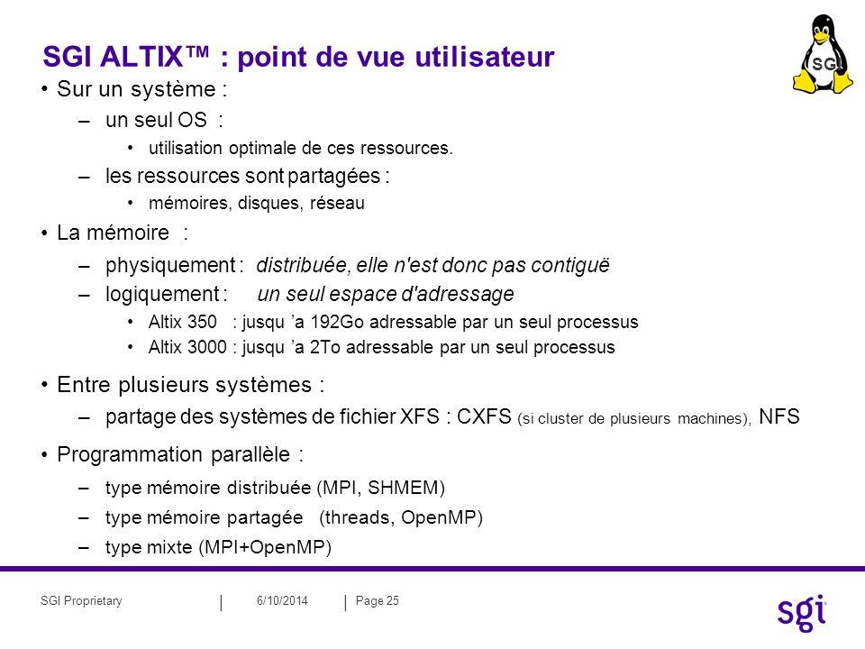 SGI ALTIX™ : point de vue utilisateur
