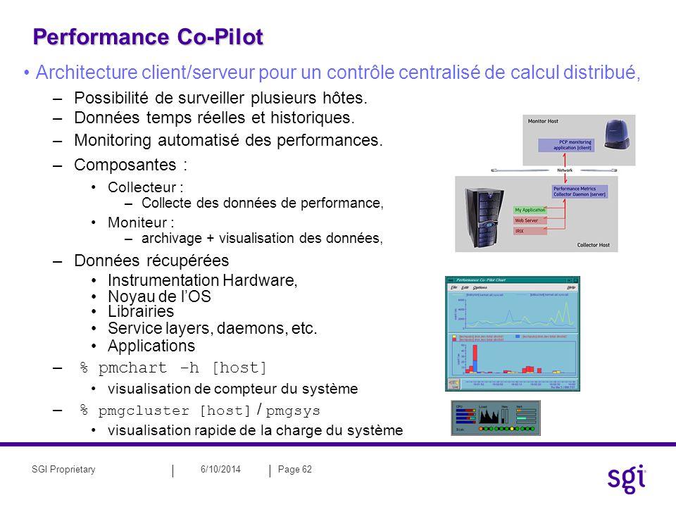 Performance Co-Pilot Architecture client/serveur pour un contrôle centralisé de calcul distribué, Possibilité de surveiller plusieurs hôtes.
