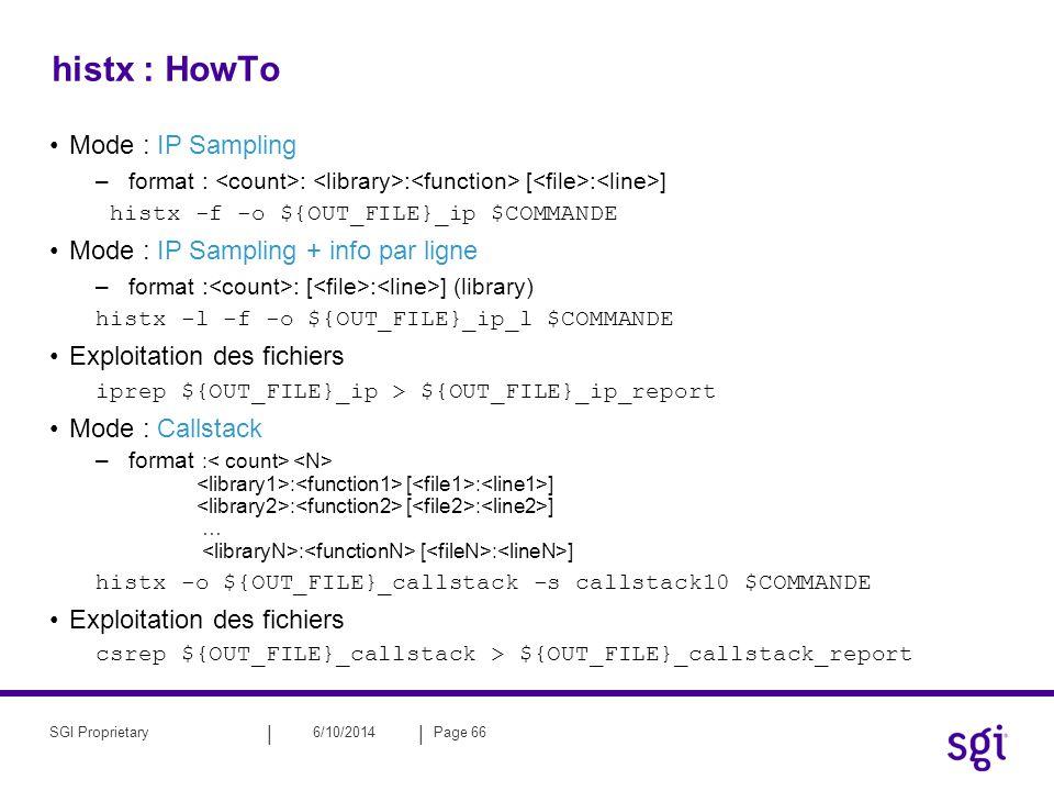 histx : HowTo Mode : IP Sampling Mode : IP Sampling + info par ligne