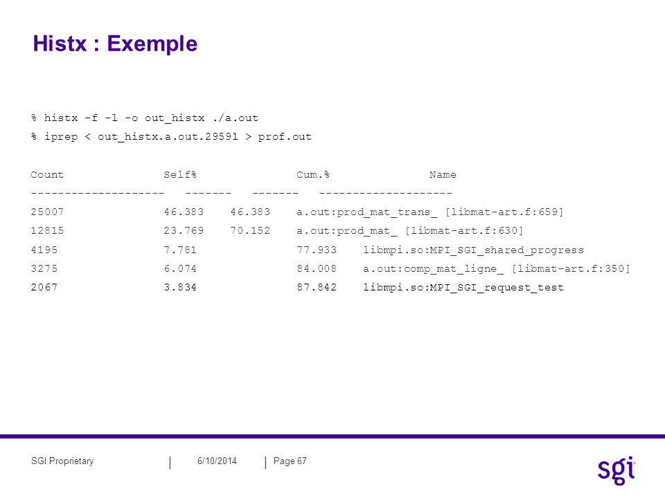 Histx : Exemple % histx -f -l -o out_histx ./a.out