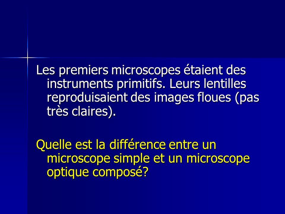 Les premiers microscopes étaient des instruments primitifs