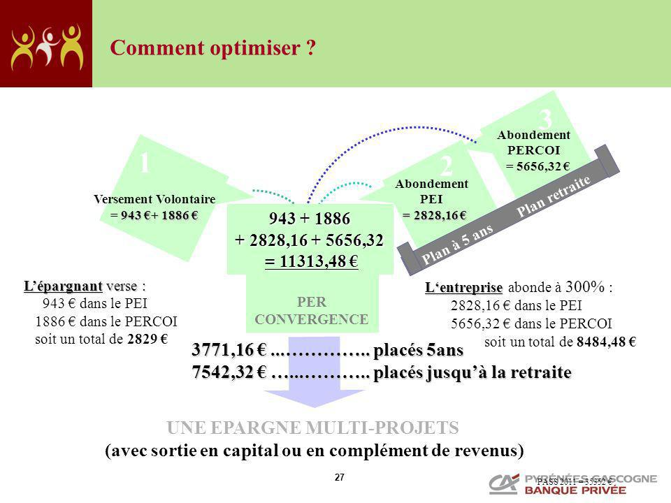 3 1 2 Comment optimiser 3771,16 € ...………….. placés 5ans