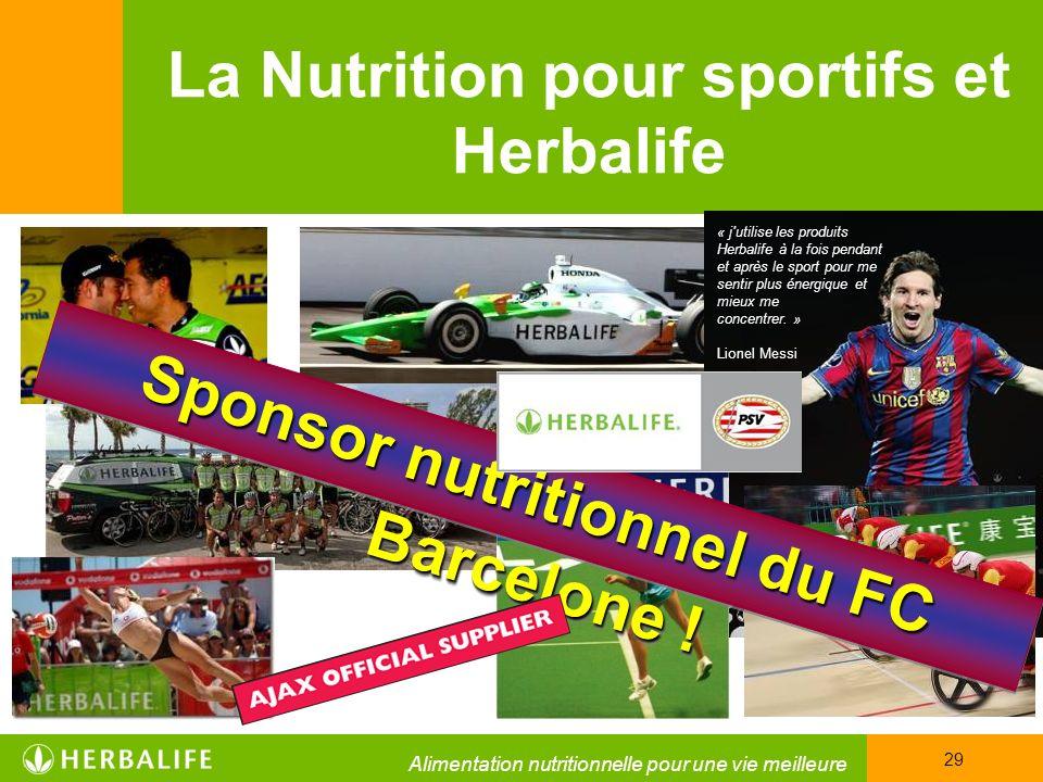 La Nutrition pour sportifs et Herbalife