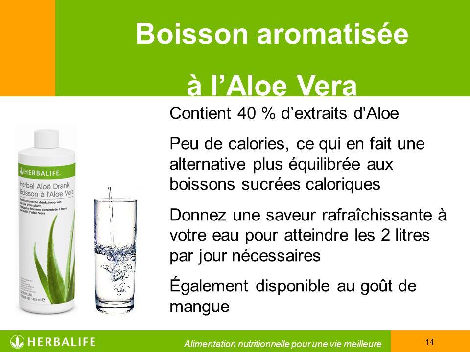 Boisson aromatisée à l'Aloe Vera