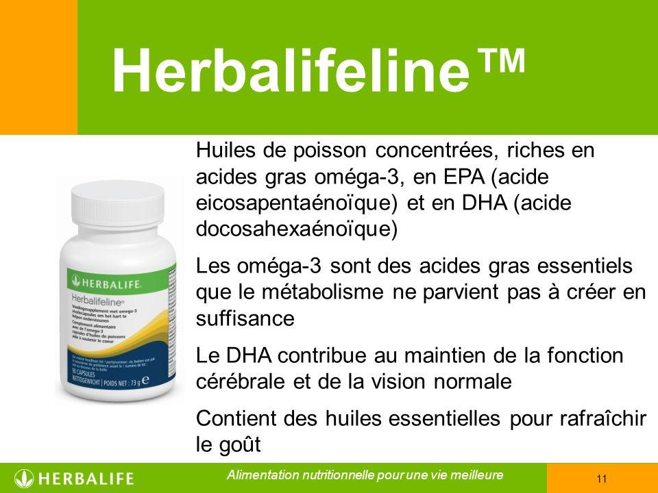 Herbalifeline™ Huiles de poisson concentrées, riches en acides gras oméga-3, en EPA (acide eicosapentaénoïque) et en DHA (acide docosahexaénoïque)