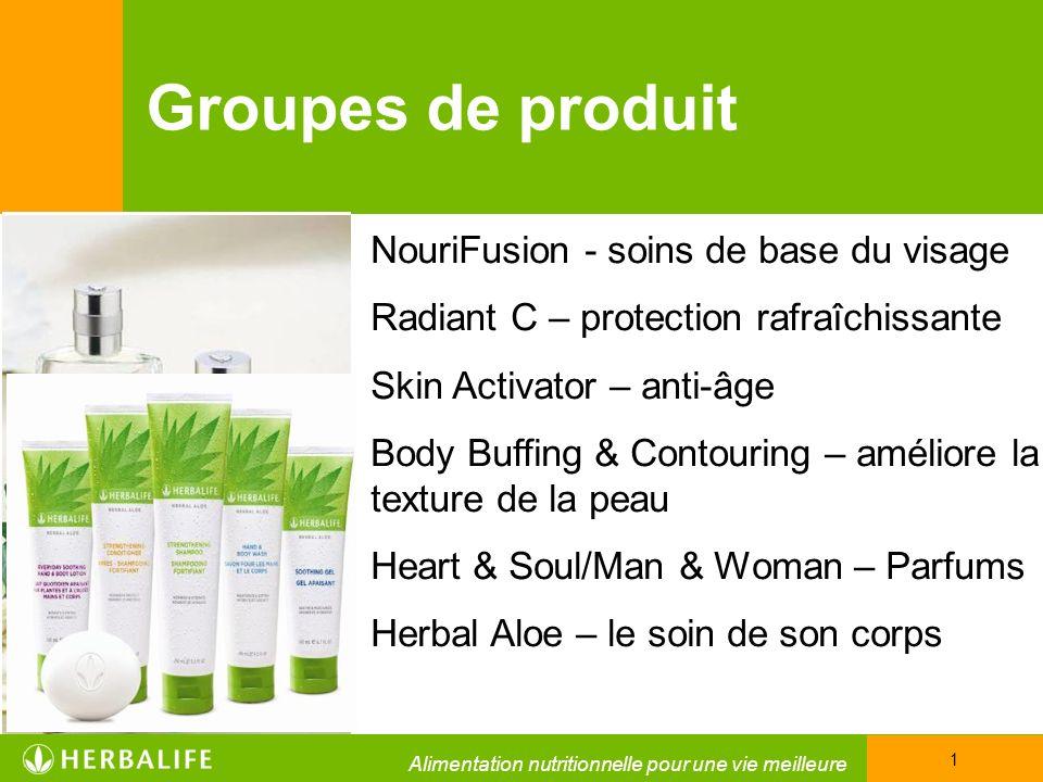 Groupes de produit NouriFusion - soins de base du visage