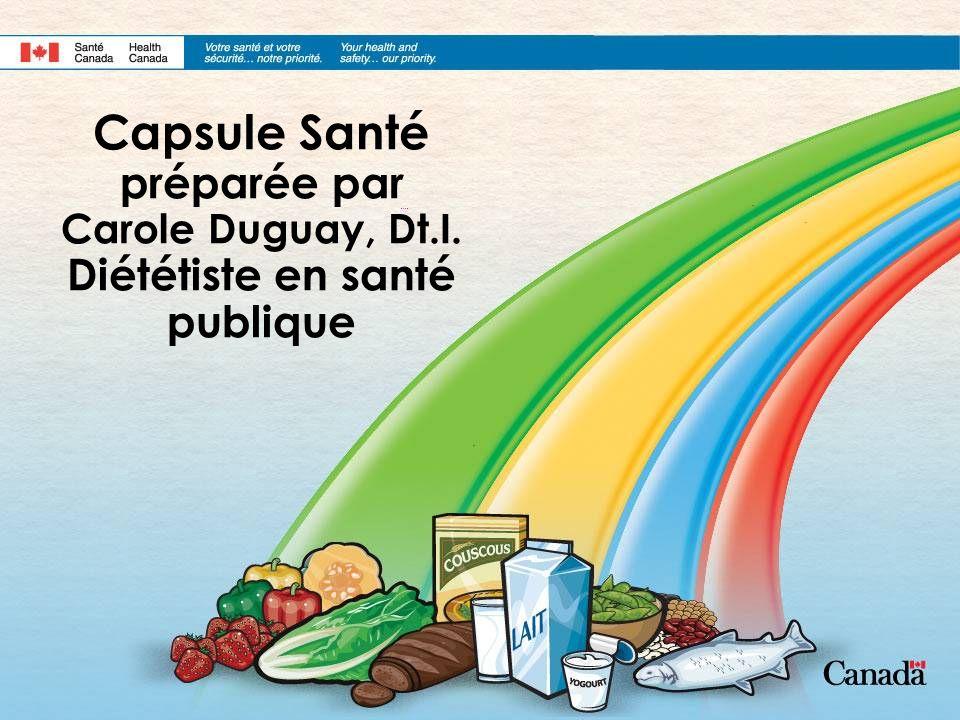 Capsule Santé préparée par Carole Duguay, Dt. I