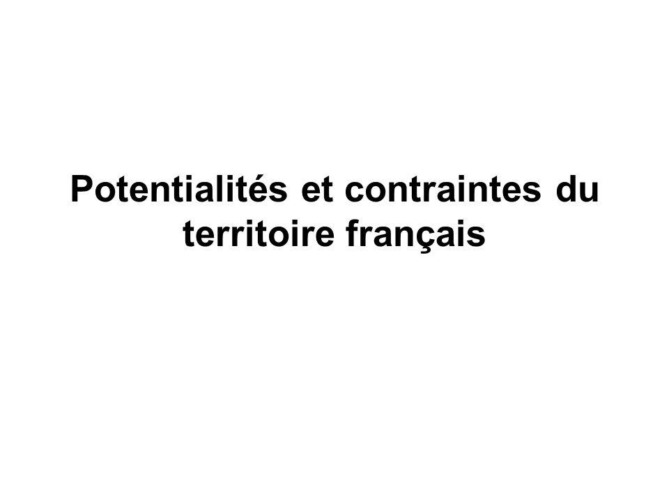 Potentialités et contraintes du territoire français