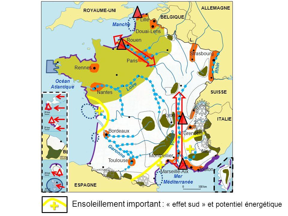 ALLEMAGNEROYAUME-UNI. BELGIQUE. Lille. Manche. Douai-Lens. Rouen. L. Strasbourg. Paris. Rhin. Rennes.