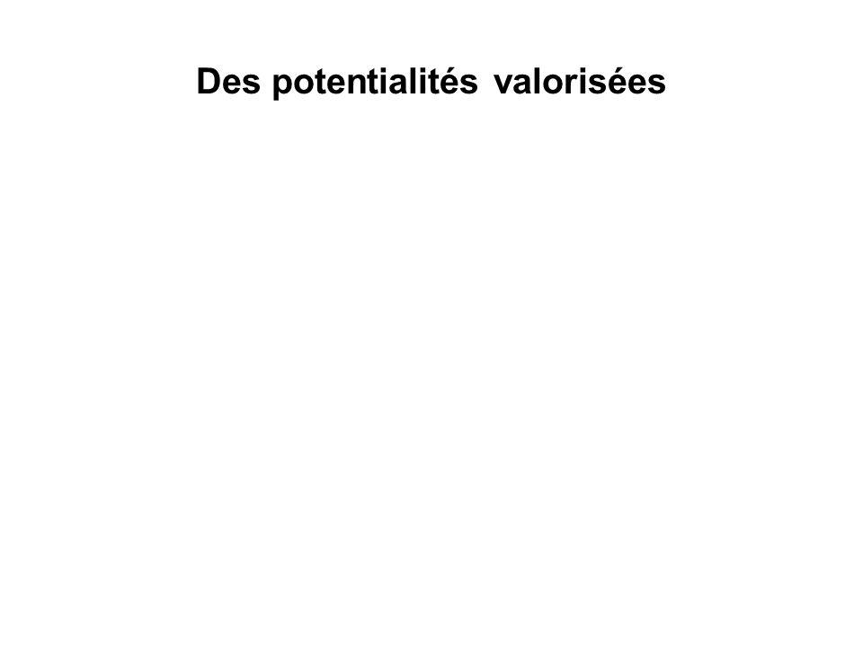 Des potentialités valorisées