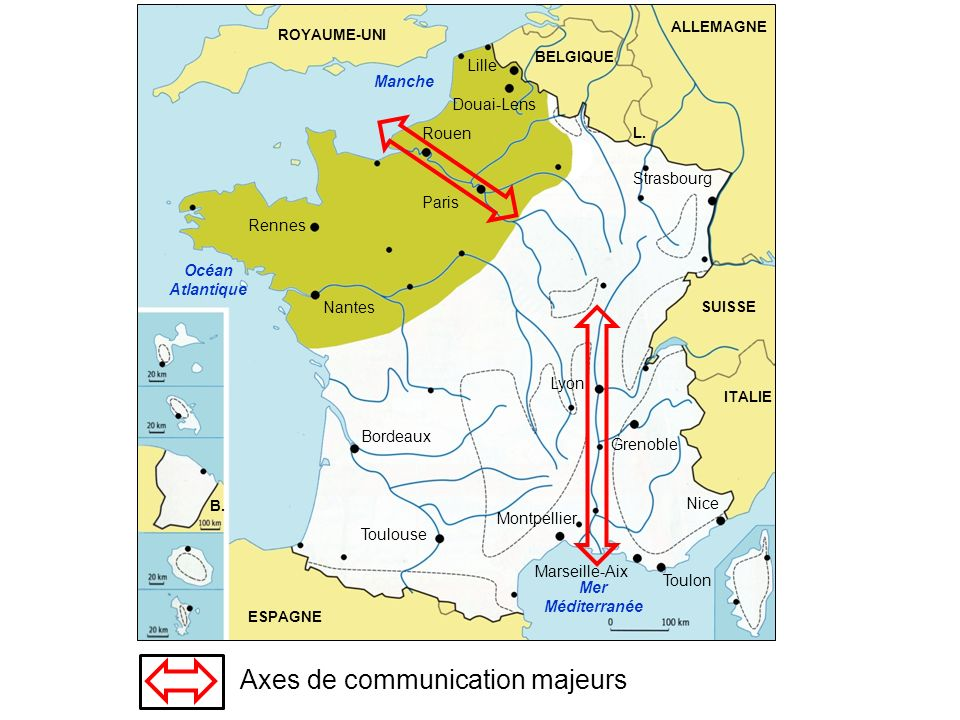 Axes de communication majeurs