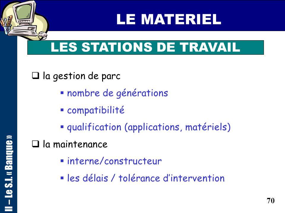 LES STATIONS DE TRAVAIL