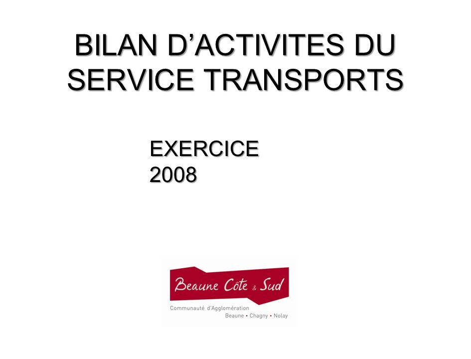 BILAN D'ACTIVITES DU SERVICE TRANSPORTS