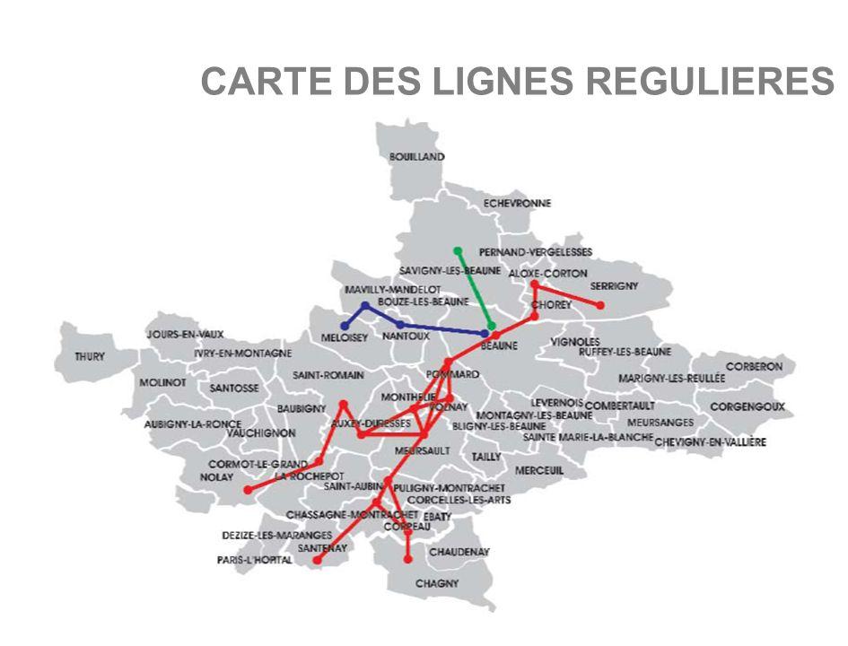 CARTE DES LIGNES REGULIERES
