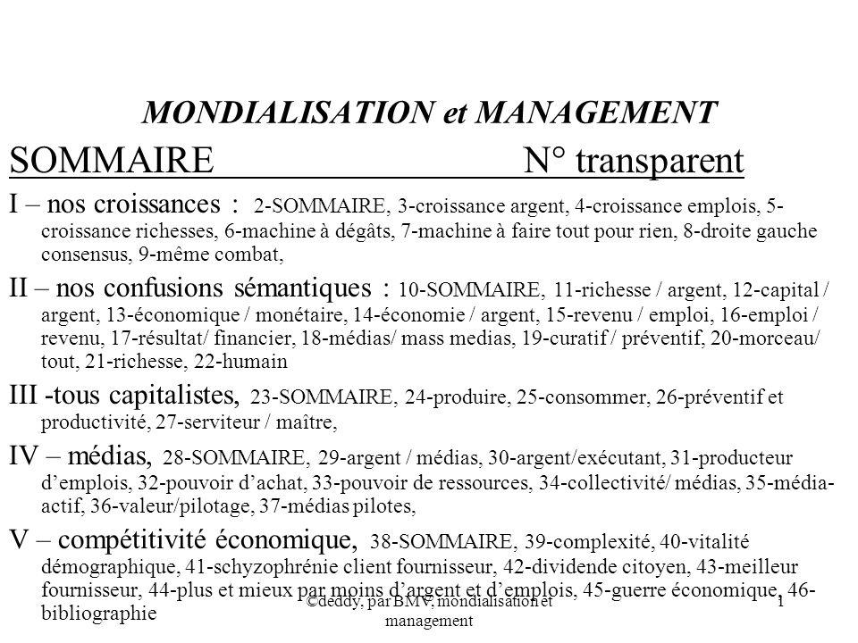 MONDIALISATION et MANAGEMENT