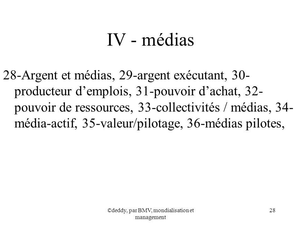 ©deddy, par BMV, mondialisation et management