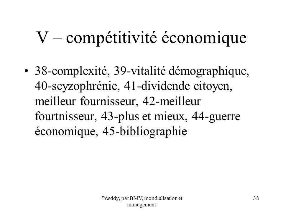 V – compétitivité économique