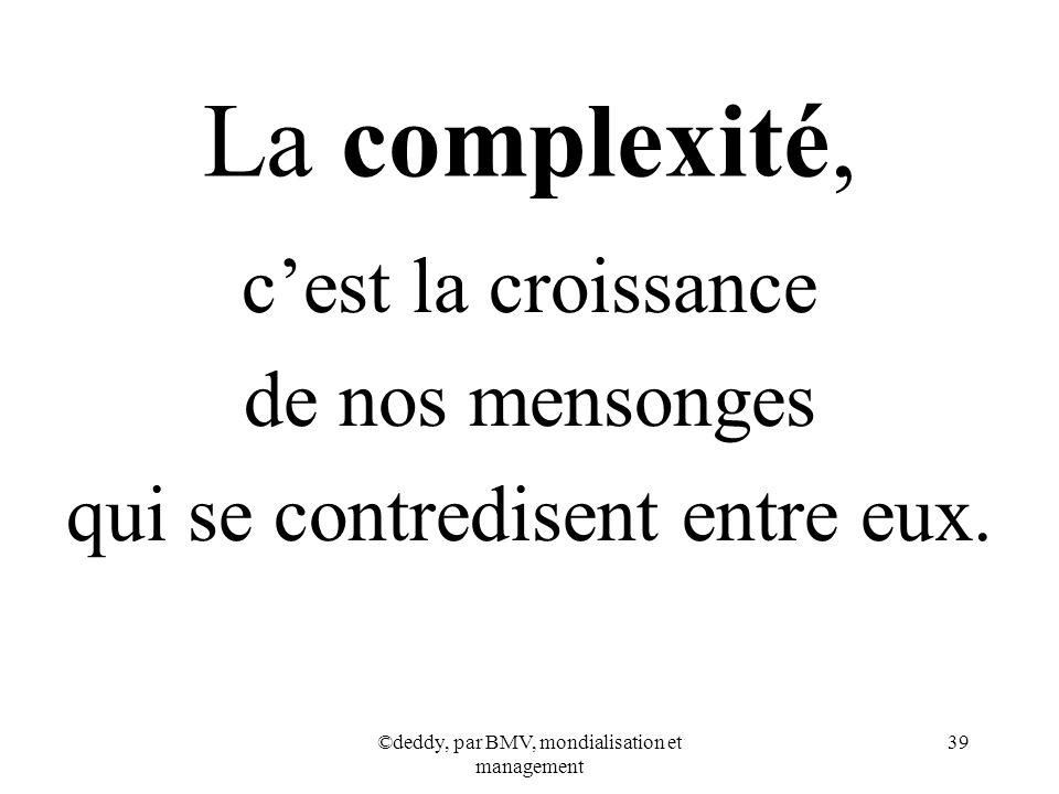 La complexité, c'est la croissance de nos mensonges