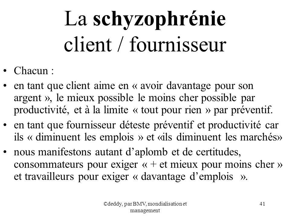 La schyzophrénie client / fournisseur