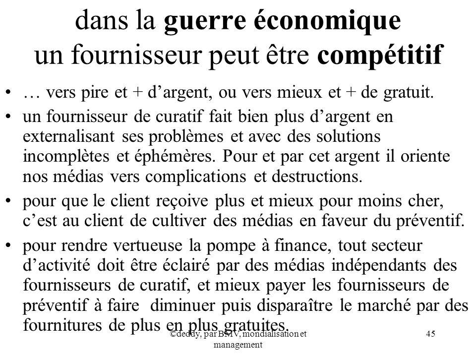 dans la guerre économique un fournisseur peut être compétitif
