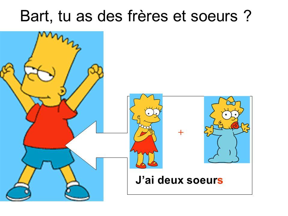 Bart, tu as des frères et soeurs