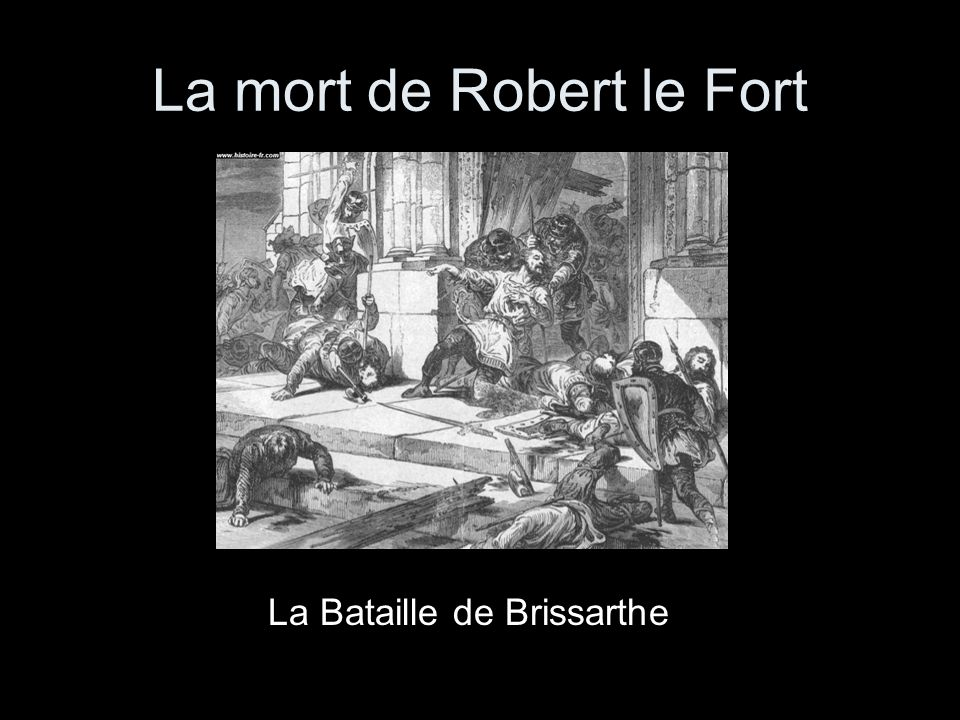 La mort de Robert le Fort